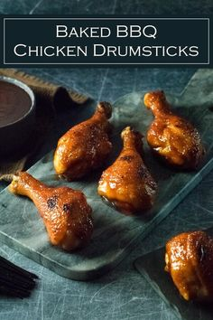 Lower Excess Fat Rooster Recipes That Basically Prime Baked Bbq Chicken Drumsticks Recipe Via Foxvalleyfoodie How To Cook Drumsticks, Chicken Drumsticks Oven, Baked Chicken Drumsticks, Grilled Chicken Recipes, Chicken Wing Recipes, Chipotle Chicken, Chicken Dips, Recipe Chicken, Kitchens
