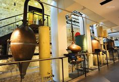 Steam Distillation, the very old traditional method to make perfume from flowers. In  Fragonard, Grasse, France