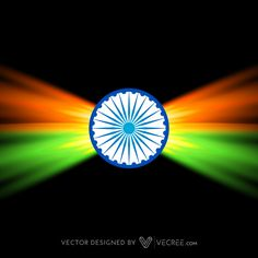 Creative Dark Indian Flag Design Free Vector #india #flag #hindu