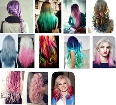 """""""Inspired hair colors"""" by gabriela-ponce ❤ liked on Polyvore"""