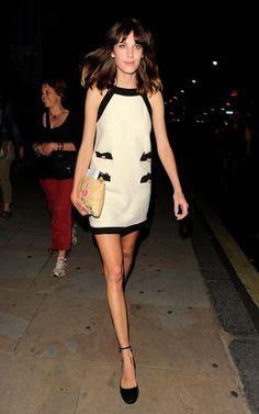 Alexa Chung. Where did she get this dress!?!? Modern Audrey.
