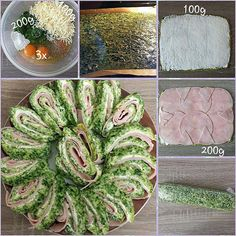 """Gefällt 2 Mal, 1 Kommentare - visual recipe step by step (@cookingwithm.e) auf Instagram: """"#Lowcarb #Spinat- #Schinken- Rolle. --------------- #Ei #Frischkäse #Käse #spinach #ham #egg…"""""""