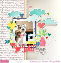 Dog Scrapbook, Scrapbook Cards, Scrapbook Layouts, Sweet Home Collection, Project Life Layouts, Creative Studio, Scrapbooks, Puppy Love, Cute