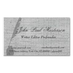 Author, Writer, or Editor Antique Typewritter Business Card ...