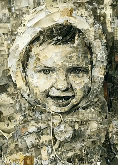 Brazilian artist Vik Muniz uses old photographs to construct intricate collages.