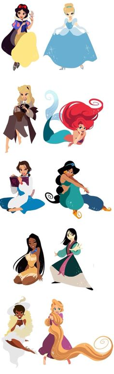 All the Disney princess