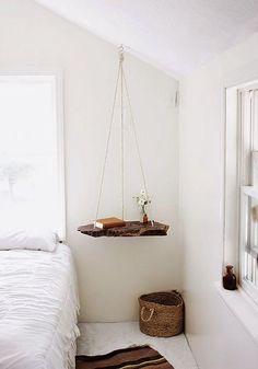 Hanging Bedside table It #bed #bedroom #bohemian #boho #design #hippie #hipster…