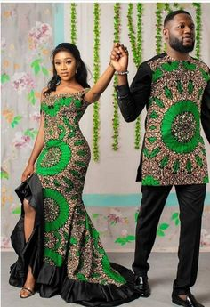 African Couple/Couple Outfit/Couple/Family Set/Husband and Piece Set/Couple Set/Couple Wear/Couple Gift/Couple Shower/African set - African fashion Couples African Outfits, Latest African Fashion Dresses, African Dresses For Women, African Print Fashion, Ankara Fashion, Africa Fashion, Modern African Fashion, Modern African Dresses, Nigerian Fashion
