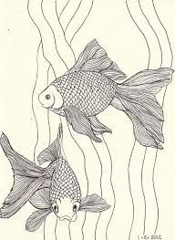 Image result for fantail goldfish drawing art painting