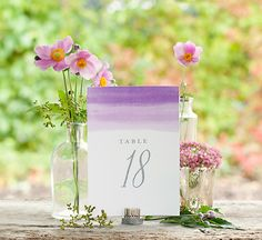 Free Printable Table Numbers #wedding #reception #decoration #printable