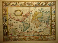 William Bleau World Map on Mercators projection  historybound.net