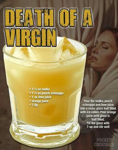Millions of People Enjoy Pocket Cocktails. Check out our World Famous Drink Posters. Liquor Drinks, Cocktail Drinks, Cocktail Recipes, Beverages, Mixed Drinks Alcohol, Alcohol Drink Recipes, Alcholic Drinks, Non Alcoholic Drinks, Refreshing Drinks