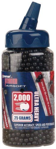 Crosman 6mm plastic airsoft BBs 025g 2000 rds black ** More info could be found at the image url.