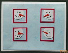 Inchies snowman handmade card