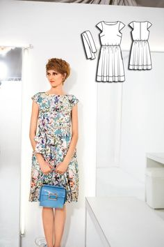 115-072015-B - 34 - 2.30m - Lightweight dress fabrics with some body. Satin coton