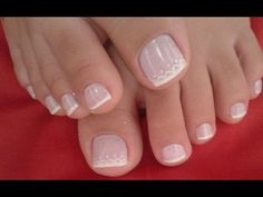 unhas decoradas do pé 2017 - Buscar con Google French Pedicure, Pedicure Nail Art, Toe Nail Art, Mani Pedi, Pretty Toe Nails, Pretty Toes, Feet Nail Design, Toe Designs, Pink Toes