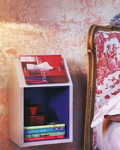 Love this side table for the avid reader!!!!  Shaped to hold the book/magazine as a bookmark!  CUTE-O!!!!!!  Gotta show T!