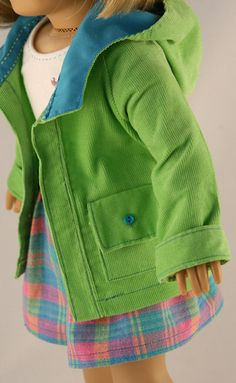 American Girl Doll Clothes Jacket/Coat with by Forever18Inches