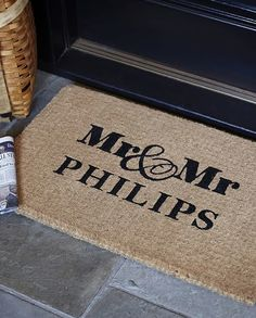 personalized Mr. and Mrs. doormat http://rstyle.me/n/sbzjmpdpe