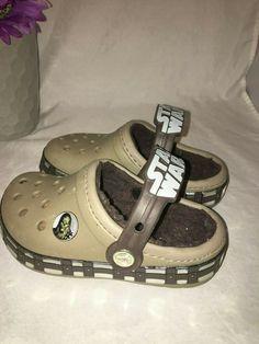 53bbf076b895 Crocs Star Wars tan brown Unisex Kids Clogs Sandal Shoes Size 8-9 chewbacca  #
