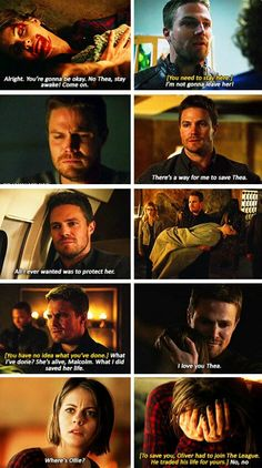 Oliver & Thea in #Arrow #3x20 #TheFallen