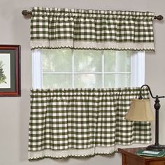 Shop for Classic Buffalo Check Kitchen Sage/ White Curtain Set or Separates. Free Shipping on orders over $45 at Overstock.com - Your Online Home Decor Destination! Get 5% in rewards with Club O!