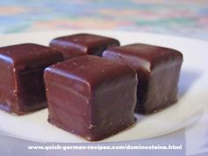 Dominosteine - a German Christmas treat. Check out the recipe at http://www.quick-german-recipes.com/dominosteine.html