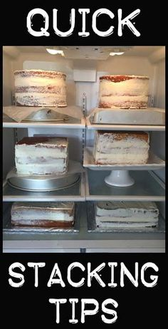 Quick Stacking Tips for your cakes. Well for me it is a reminder to frost te cake before putting on the fondant
