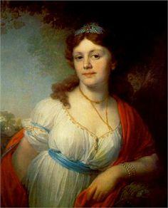 Portrait of E Temkina - Vladimir Borovikovsky -1798