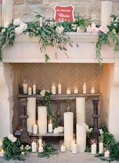 Put extra greenery + DIY candles in dancing room
