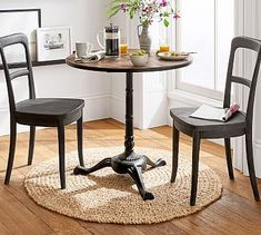 Shop bistro table from Pottery Barn. Our furniture, home decor and accessories collections feature bistro table in quality materials and classic styles. High Top Table Kitchen, Small Kitchen Tables, High Top Tables, Small Dining, Kitchen Bistro Set, Small Kitchens, Small Tables, Kitchen Dining, Kitchen Ideas