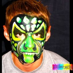Ugly Reptile Face Painting by Glitter-Arty Face painting Bedford Bedfordshire