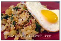 Quinoa con vegetales para desayunar