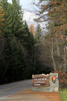 Glacier National Park the west entrance sign