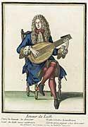 Henri Bonnart (1642 - 1711)   Recueil des modes de la cour de France, 'Joueur de Luth', 1675-1679, bound 1703-1704
