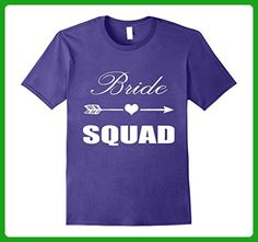 Mens Funny Bride Squad Tee Bride Squad Shirt Bachelorette Party XL Purple - Wedding shirts (*Amazon Partner-Link)