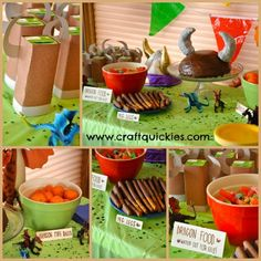 Cute, fun and cheap food ideas for a How to Train Your Dragon birthday party!