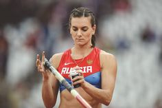 Russia's Yelena Isinbayeva Can compete in rio this summer at the Olympics Mens Blue Suit Jacket, Blue Suit Men, Rio Olympics 2016, Summer Olympics, London Olympic Games, Star Wars, Olympic Athletes, Sporty Girls, Games