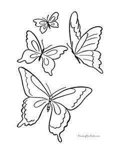 free printable pictures | Printable Coloring Pages of Butterfly 008