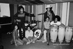 Jackson 5 in the studio (1972)