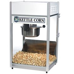 The world's most popular Gold Medal popcorn machine with Kettle Corn temperature controls. The Ultra 60 Kettle Corn popcorn machine produce tasty popcorn and is easy to clean! Kettle Corn Machine, Kettle Corn Popcorn, Best Popcorn, Cinnamon Almonds, Food Service Equipment, Popcorn Maker, New Recipes, Slow Cooker, Tasty