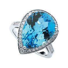 Pear shaped Swiss Blue topaz diamond ring. Lovely colour. For more details go to: www.amazon.com/gp/product/B009T8W4U8/ref=as_li_ss_tl?ie=UTF8=1789=390957=B009T8W4U8=as2=dreahomebu0c2-20