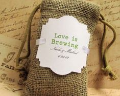 Items similar to Coffee Favor Bags, Wedding Favors ,Favors Bag for Coffee Bars Personalized for your Bridal Shower or Wedding on Etsy