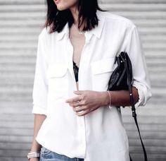 Equipment essentials in crisp white  http://like2b.uy/equipment_fr