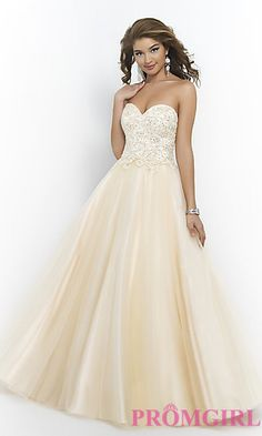 Floor Length Strapless Sweetheart Ball Gown by Blush at PromGirl.com