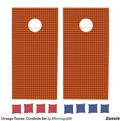 Add some friendly fun to the BBQs, tailgates, and outdoor activities with Orange cornhole sets from Zazzle. Design your own boards and choose from various colored bean bags to create the perfect cornhole set. Cornhole Set, Cornhole Boards, Design Your Own, Tartan, Create Your Own, Activities, Orange, Fun, Plaid