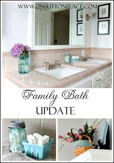 Easy ideas to update a vintage bath in one day and for about 100 bucks!