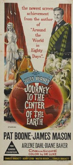 This is an unusual insert, could be British.   The artwork is different from any other style I've seen.  JOURNEY TO THE CENTER OF THE EARTH (1959).