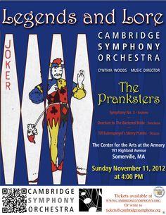 Cambridge Symphony Orchestra - The Pranksters, Sunday, November 11, 2012