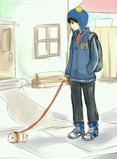 Walking your guinea pig so cute